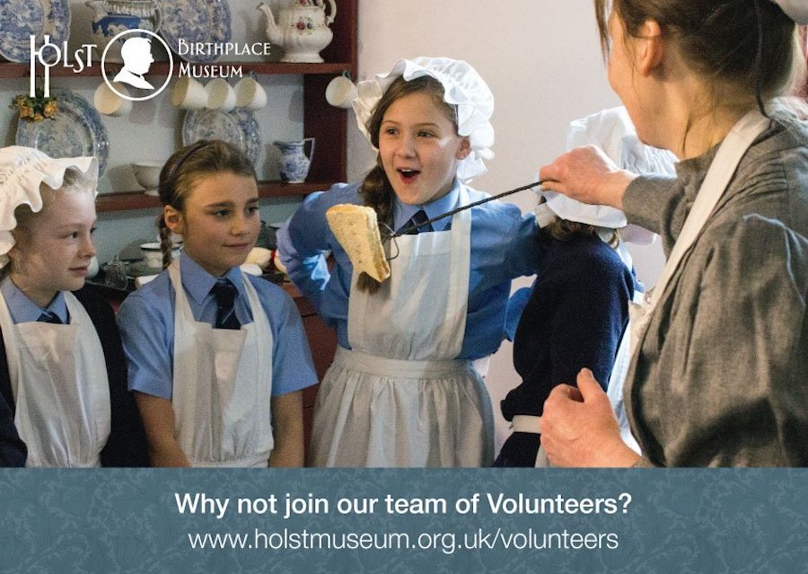 Volunteer in costume