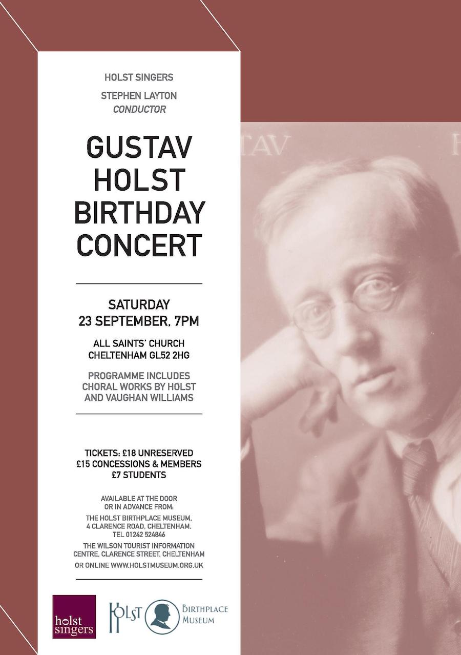 Holst Birthday Concert 2017
