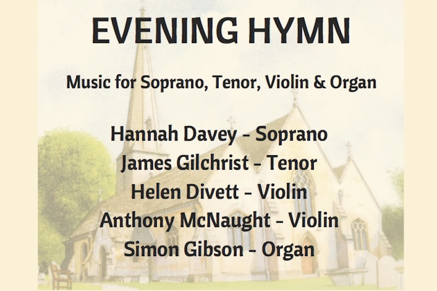 Poster for Evening Hymn concert