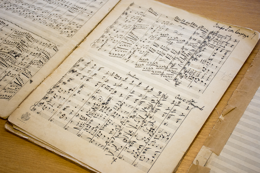 A page from the score of 'Folk Songs from Somerset'