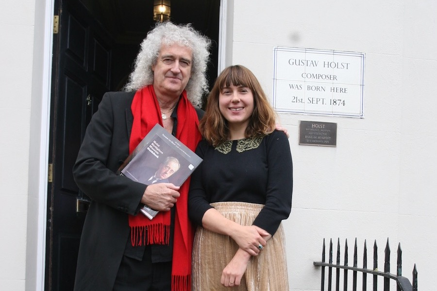 Brian May visits the Holst Birthplace Museum