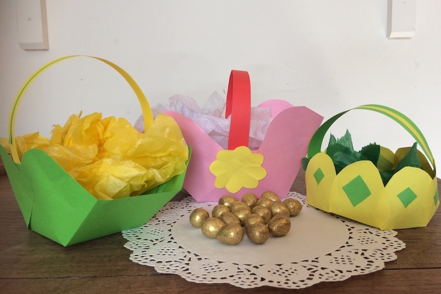 Easter baskets and chocolate eggs