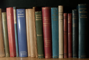 a row of old books