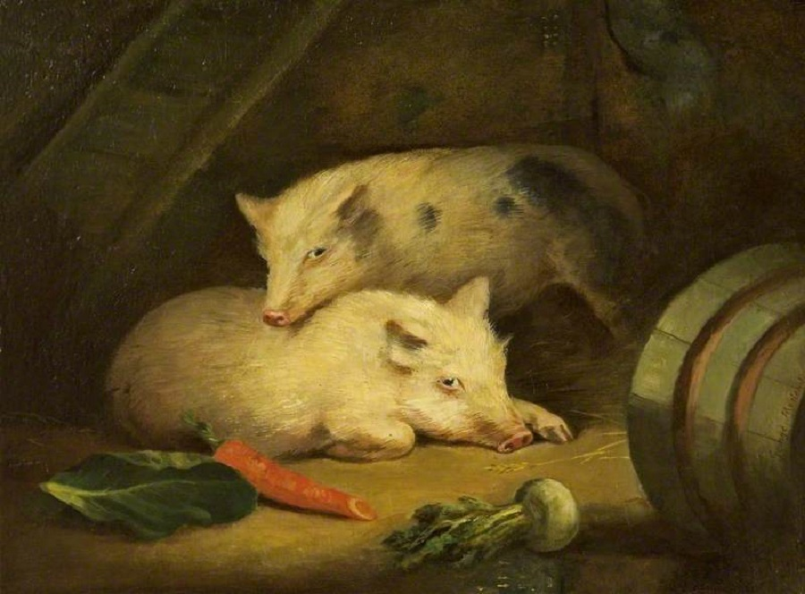 """Pigs"" by George Morland"