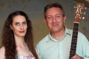 Lily Neil, harp and Clive Carroll, guitar